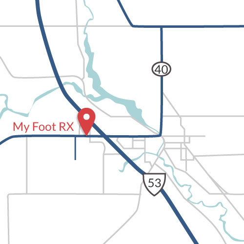 My Foot Rx map